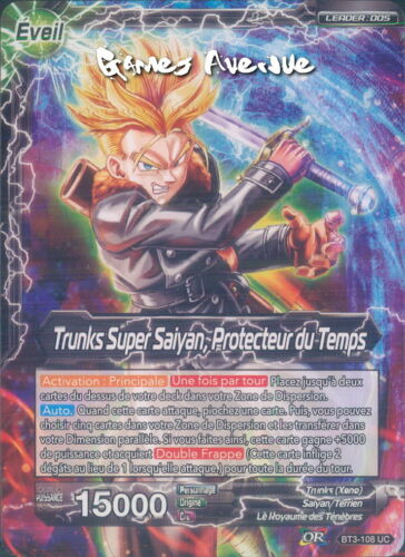 Dragon ball super super saiyan strunks time protector bt3-108 uc vf