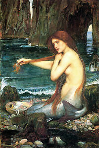 A-Mermaid-Waterhouse-CANVAS-OR-PRINT-WALL-ART