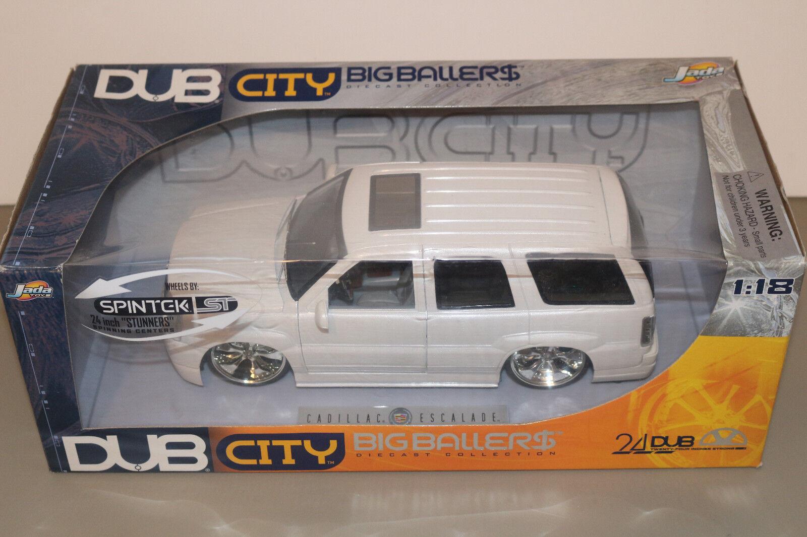Dub City Big Ballers Pearl White Cadillac Escalade 1 1 1 18 Scale 512332