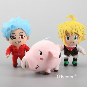 Anime-Seven-Deadly-Sins-Toys-Hawk-Meliodas-Sin-of-Wrath-Greed-Ban-Fox-Plush-Toys