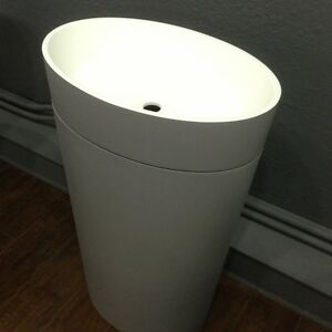 Free Standing Pedestal Sink : ... > Sinks > See more ADM Wall Hung Solid Surface Bathroom Sink 24 X