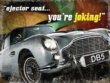 Aston Martin DB5, Ejector Seat, Classic Car, James Bond, Small Metal/Tin Sign