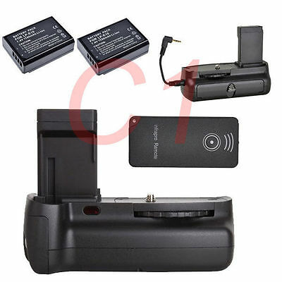 Battery Grip Holder Pack F Canon EOS 1100D 1300d Camera + IR Remote + 2x LP-E10