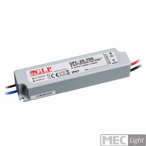 LED Trafo mit 700mA Konstantstrom 9-30V Netzteil wasserdicht driver 19,6W