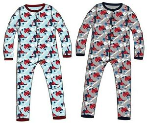 spiderman schlafanzug einteiler 92 98 104 110 junge pyjama lang overall kinder ebay. Black Bedroom Furniture Sets. Home Design Ideas