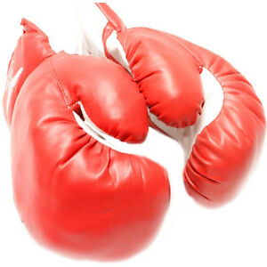 Faux Leather Boxing Sparring Training Gloves MMA Kick Boxing Punching Gloves