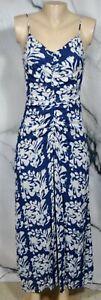BAILEY-44-Midnight-Blue-Multicolor-Fresco-Floral-Batik-Print-Maxi-Dress-Small