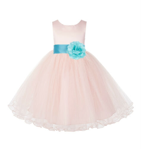 Blush Pink Flower Girl Dress Wedding Pageant Dress Birthday Girl Dress Christmas