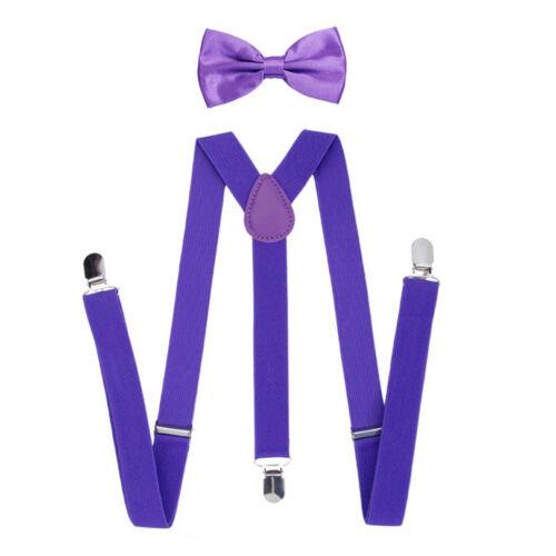 Fashion Suspender Bow Tie New Set for Baby Toddler Kids Boys Girls Children 90cm