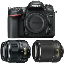 Nikon D7200 DX 24.2MP DSLR Camera w/ 18-55mm Zoom + 55-200mm NIKKOR Lens Bundle