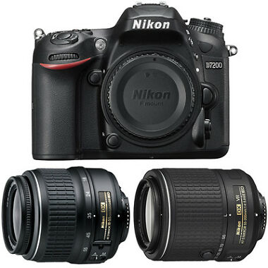 Nikon D7200 24MP HD DSLR Camera Body Bundle