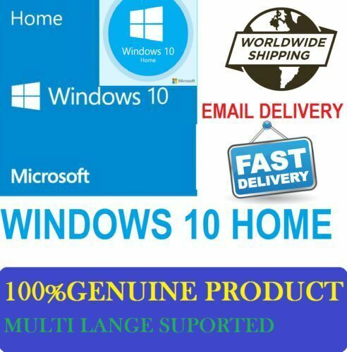Windows 10 Home 32 64 Bit Genuine License Product Key ...