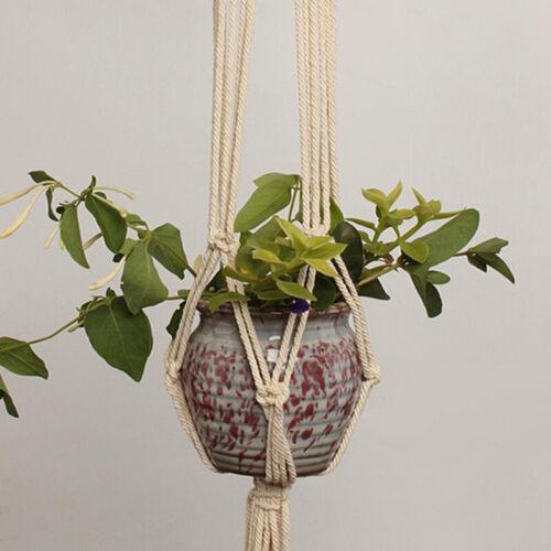 Pot Holder Macrame Plant Hanger Hanging Planter Basket Jute Rope Garden Home