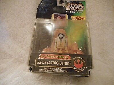 STAR WARS THE POWER OF THE FORCE ACTION FIGURE R2 D2 1996 NRFB LIGHTS AND SOUND