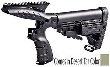 CMGPT500-S CAA Tactical Tan Stock System With Grip, Picatinny Rail & Stock