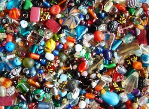 Over-1-5-pounds-vintage-to-now-loose-lampwork-art-glass-assorted-bead-lot-lbs