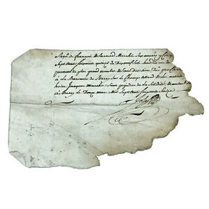 1600-1700-s-Torn-Authentic-Antique-Manuscript-Paper-Document-European-Letter-Old