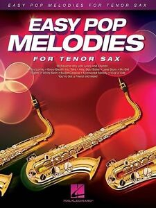Details about Easy Pop Melodies For Tenor Sax Book *NEW* Instrumental  Solos, 50 Songs, Lyrics