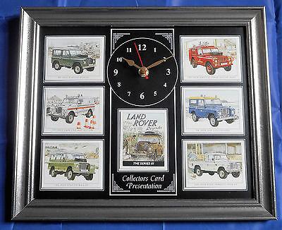 100% Vero Land Rover Legends Series Iii Splendido Orologio Da Parete Carte Da Collezione-