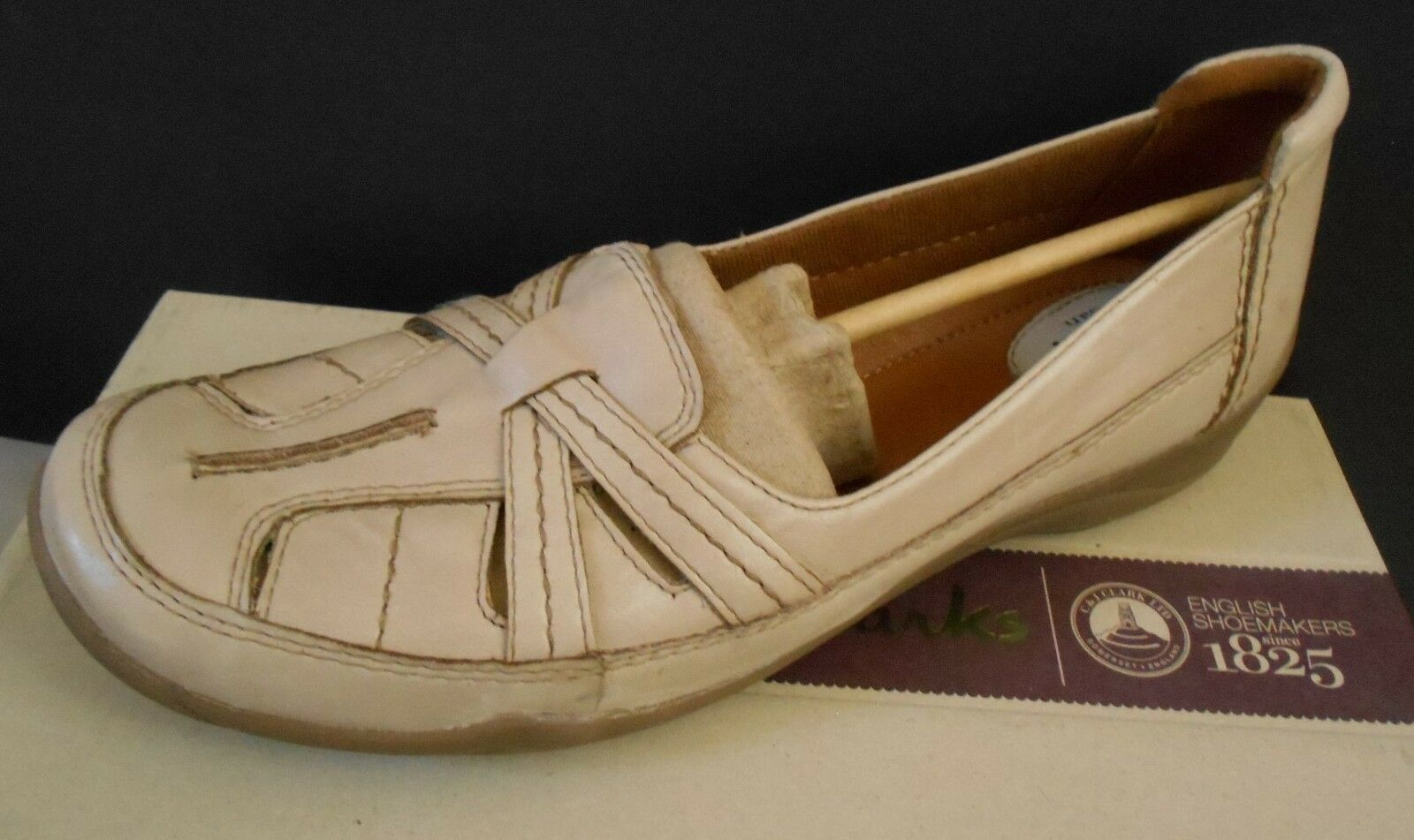 Clarks Women's ARTISAN Slip On Tan Tan Tan Leather shoes 9.5 M 78c12d