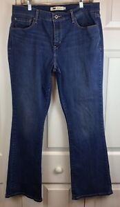 Womens-LEVI-039-S-515-Sz-14-Boot-Cut-Pants-Slacks-Stretch-Denim-Blue-Jeans