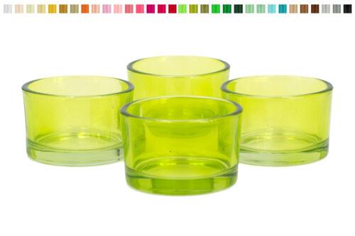 4 Teelichthalter 51x33mm Teelichtgläser Kerzenhalter Windlicht Teelichtglas Set
