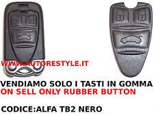 SOLO TASTI GOMMINO NERO RICAMBIO PER CHIAVE TELECOMANDO 159 BRERA Q4 ALFA ROMEO
