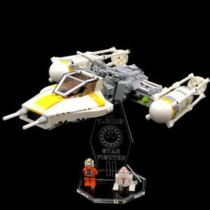 Acryl-Display-Stand-Acrylglas-Standfuss-fuer-LEGO-7658-Y-Wing-Fighter