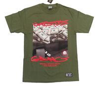 Money Bag Hustle Gang Tee In Military Green