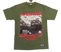 Money Bag Hustle Gang Tee In Military Green