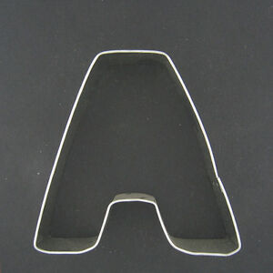 letter a 3quot metal cookie cutter fondant alphabet monogram With metal letter cookie cutters