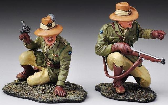 Thomas Gunn WW1 Inglese ALH001 Australiano Luce Horse Ufficiale Couomodo Set MIB