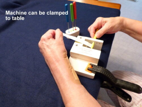 """/""""Easy Roller/""""  compact paper bead rolling machine."""