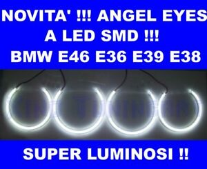 KIT ANGEL EYES a LED SMD 6000K per BMW E46 A+B NO CCFL