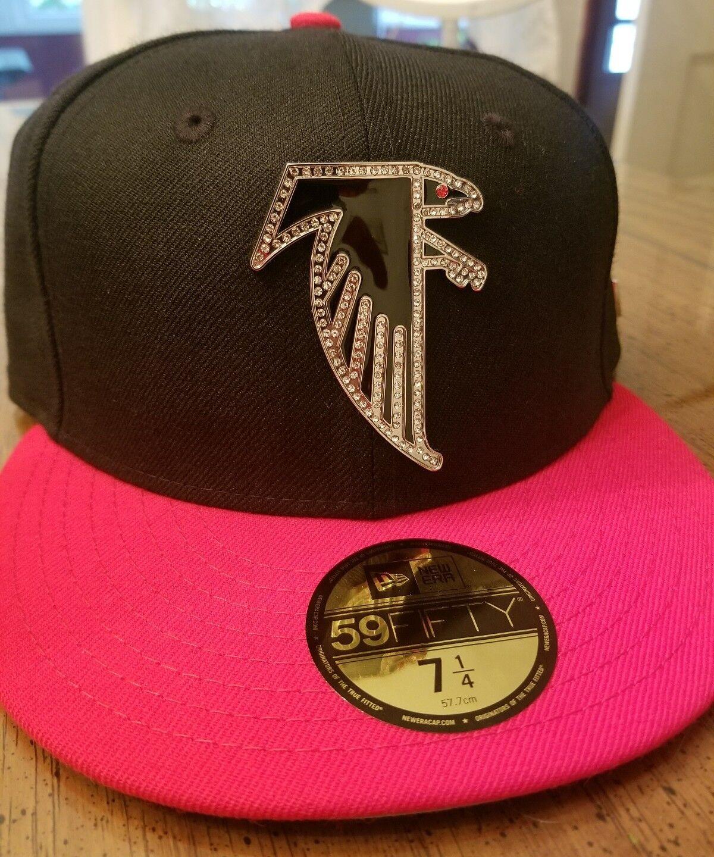 promo code a4e32 58f91 ... new style atlanta falcons new era rhinestone fitted hat rare limited  rhinestone era edition costom made ...