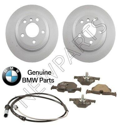 For BMW E30 323i Full Brake Kit Rotors Parking Shoes Wear Sensors Pads Plates