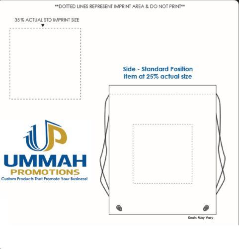 150 Mochila con cordón Material no tejido Personalizado Impreso Con Su Logotipo O Mensaje