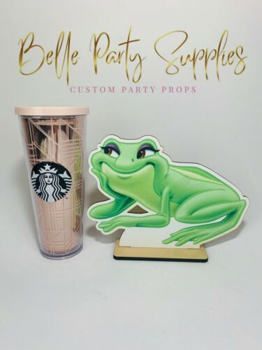 10/' Frog Tiana Princess /& Frog Wood Centerpiece Table Party Birthday Decoration