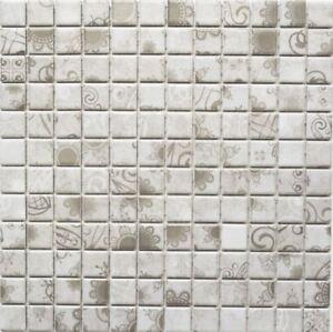Détails sur Céramique Mosaïque Gris Carreaux Miroir Douche Sol WC salle de  bains cuisine 18d-1402 10 Tapis- afficher le titre d\'origine