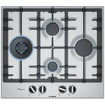 Bosch PCI6A5B90 Built In Hob Stainless Steel Gas 4 Burners 9 Levels Adjustable