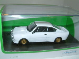 1/43 Skoda 130 Rs Spec Rally Spec En Blanc Unicolore, Abrex 8592420406521