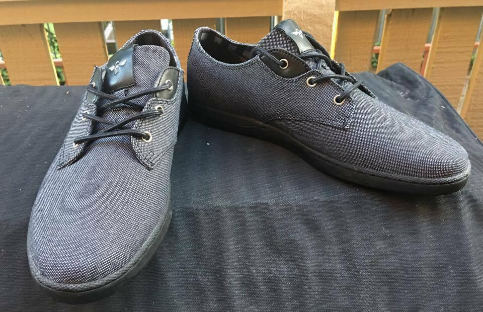 CREATIVE RECREATION black vintage canvas Mens athletic Shoes 9 NEW
