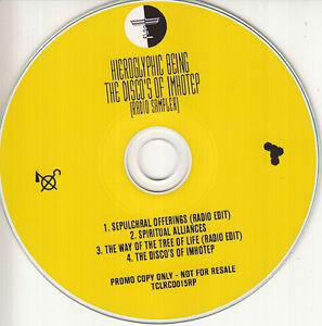 HIEROGLYPHIC-BEING-Disco-039-s-Of-Imhotep-Radio-Sampler-2016-UK-4-trk-promo-test-CD