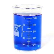 100 Ml Glass Beaker Borosilicate Thick Low Form 100ml