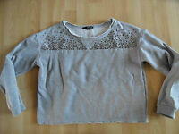 TALLY WEIJL oversizes Sweat grau m. Nieten Gr. M TOP PN1214