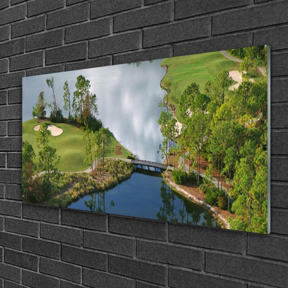 Wall art Print on Plexiglas® Acrylic 100x50 Lake Nature