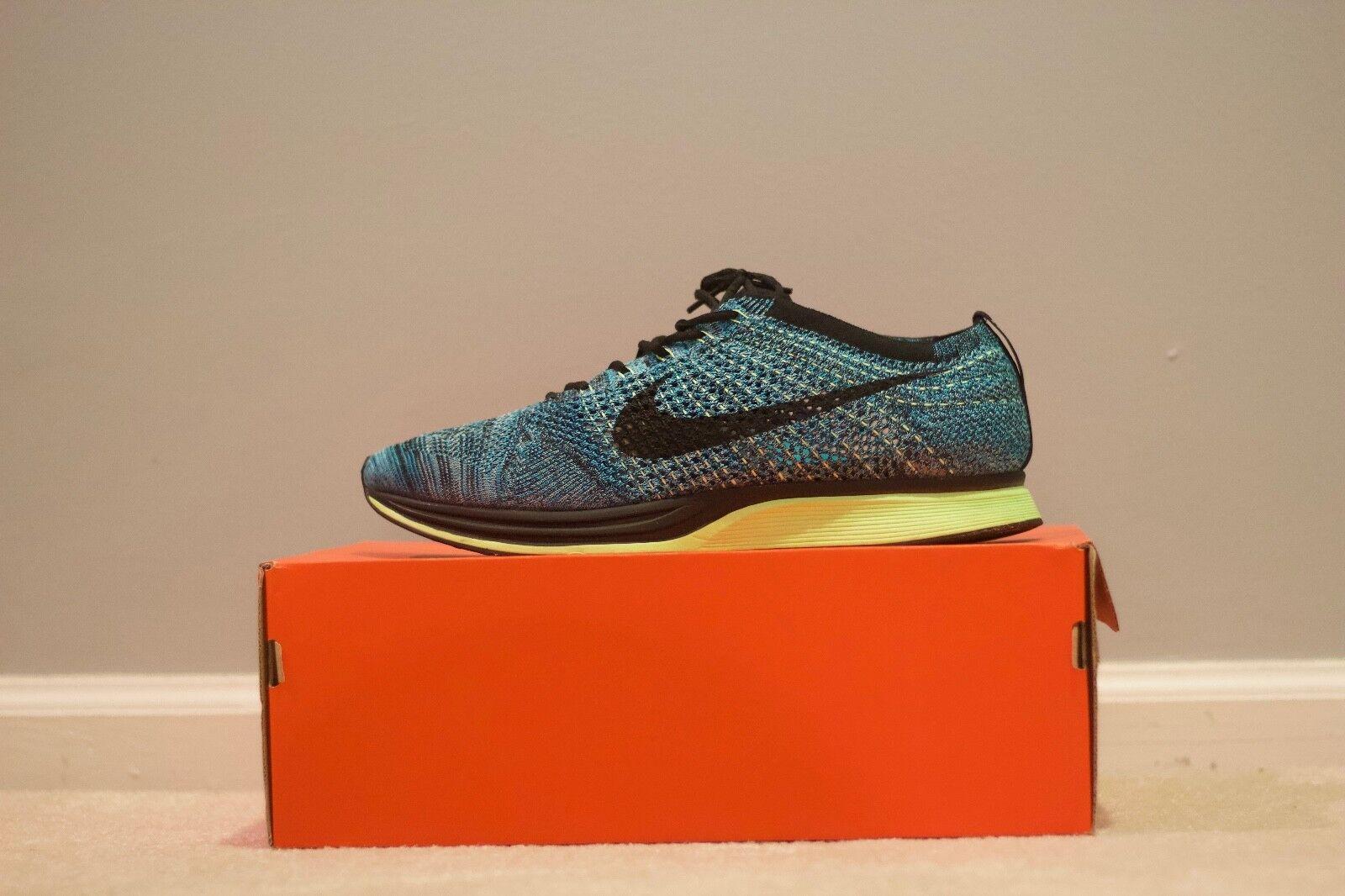 Nike Flyknit Racer bluee Lagoon Black-Polarized bluee 526628-401 Gecko Size 13