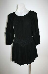 SEED-black-off-the-shoulder-beach-dress-size-S-8-10-135-NEW