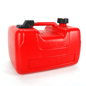 3.2 Gallon Boat Fuel Tank 12L Low Profile Red Portable Outboard Motor Gas Tank