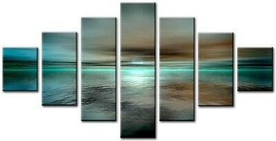 7 Panel Total 160x90cm Large ABSTRACT  ART CANVAS  DIGITAL HEAVEN Plum